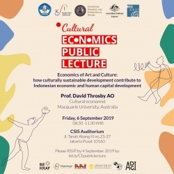 Public Lecture: Economics of Art and Culture